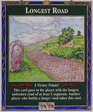 5th edition Longest Road Settlers of Catan Building Cost Cards Largest Army