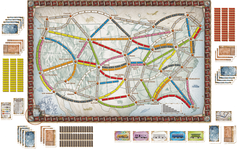 How To Play Ticket To Ride Game Rules Ultraboardgames
